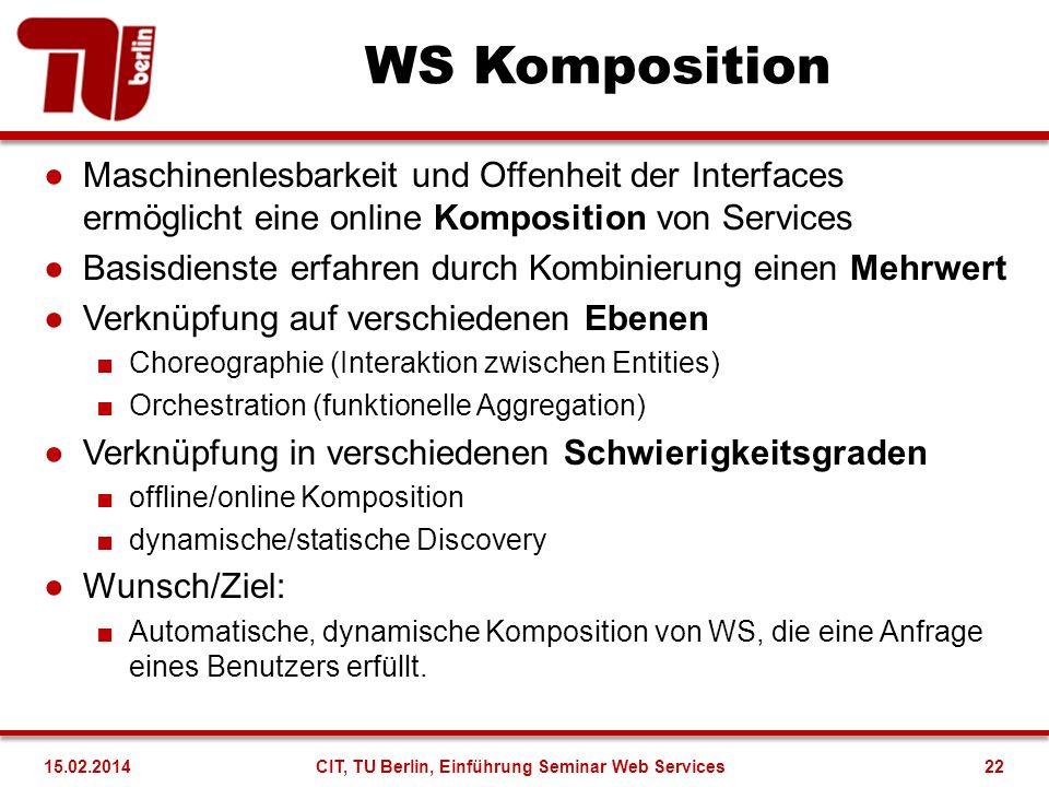 CIT, TU Berlin, Einführung Seminar Web Services