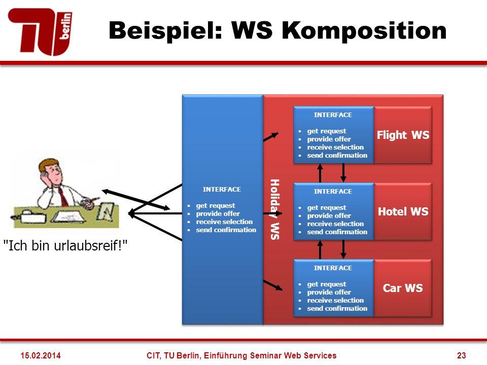 Beispiel: WS Komposition