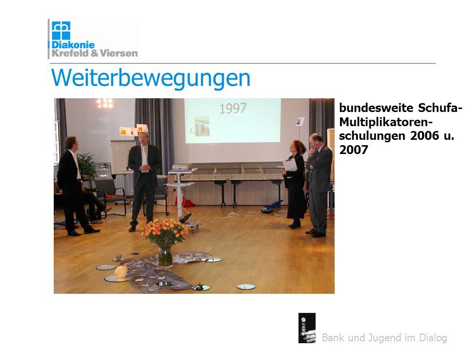 Weiterbewegungen bundesweite Schufa- Multiplikatoren- schulungen 2006 u. 2007. 4er Foto stattdessen!