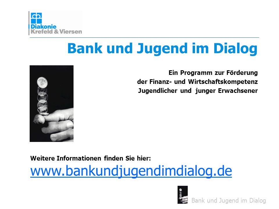 Bank und Jugend im Dialog