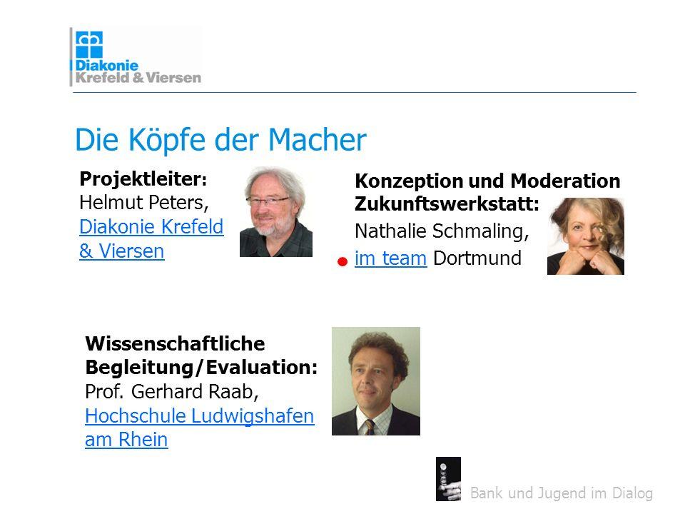 Die Köpfe der Macher Projektleiter: Helmut Peters, Diakonie Krefeld & Viersen.