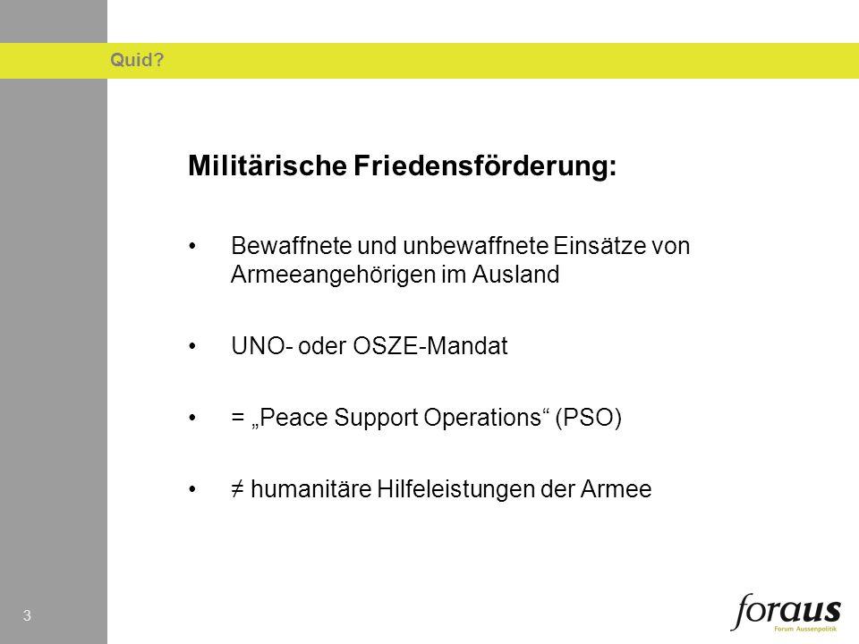 Militärische Friedensförderung:
