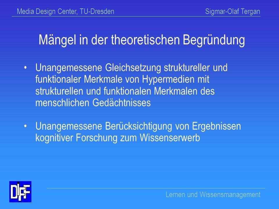 Mängel in der theoretischen Begründung