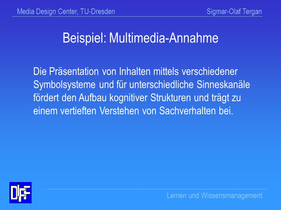 Beispiel: Multimedia-Annahme