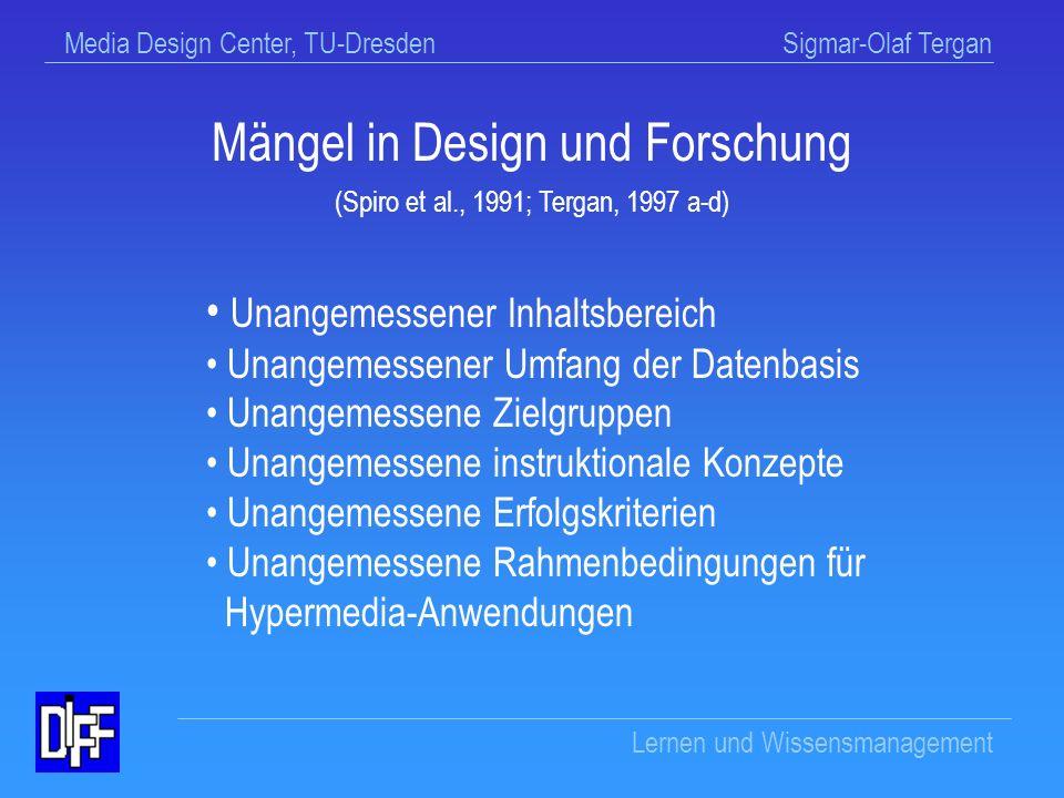 Mängel in Design und Forschung