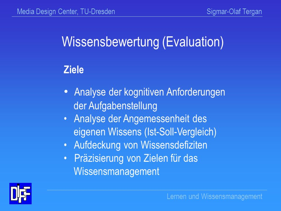 Wissensbewertung (Evaluation)