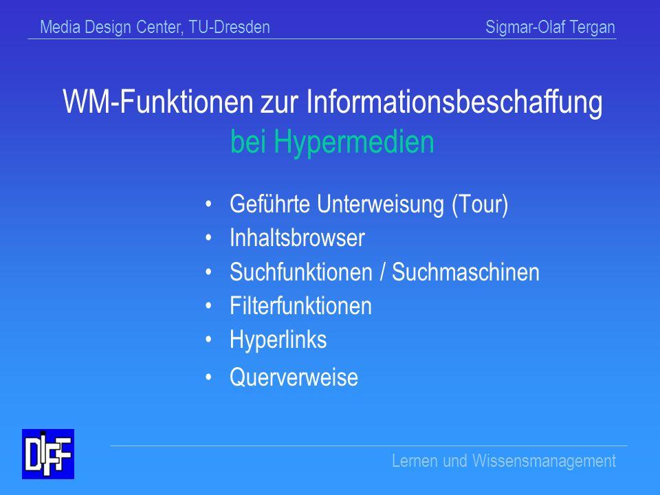 WM-Funktionen zur Informationsbeschaffung