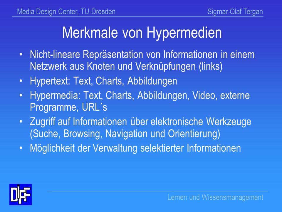 Merkmale von Hypermedien