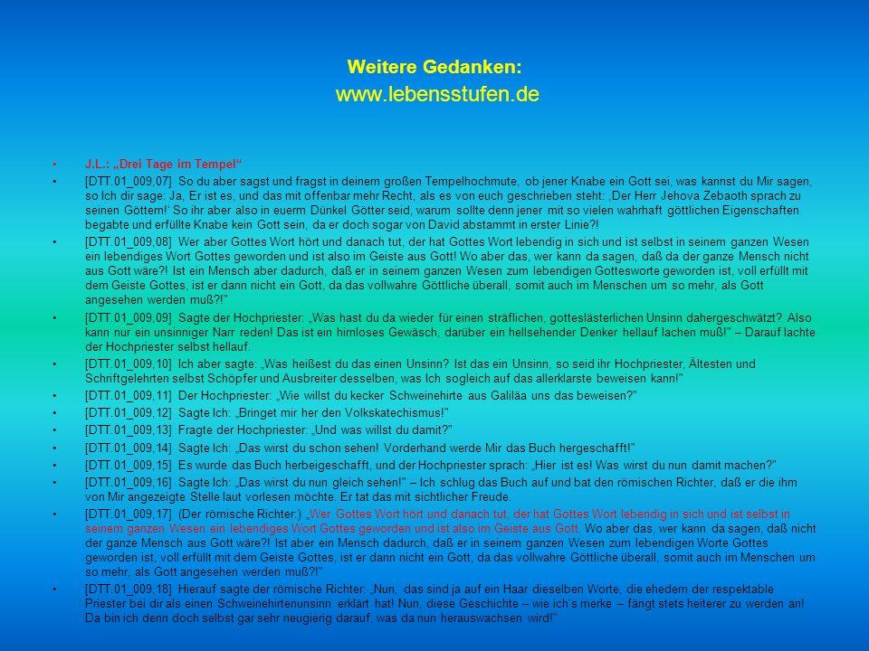 Weitere Gedanken: www.lebensstufen.de