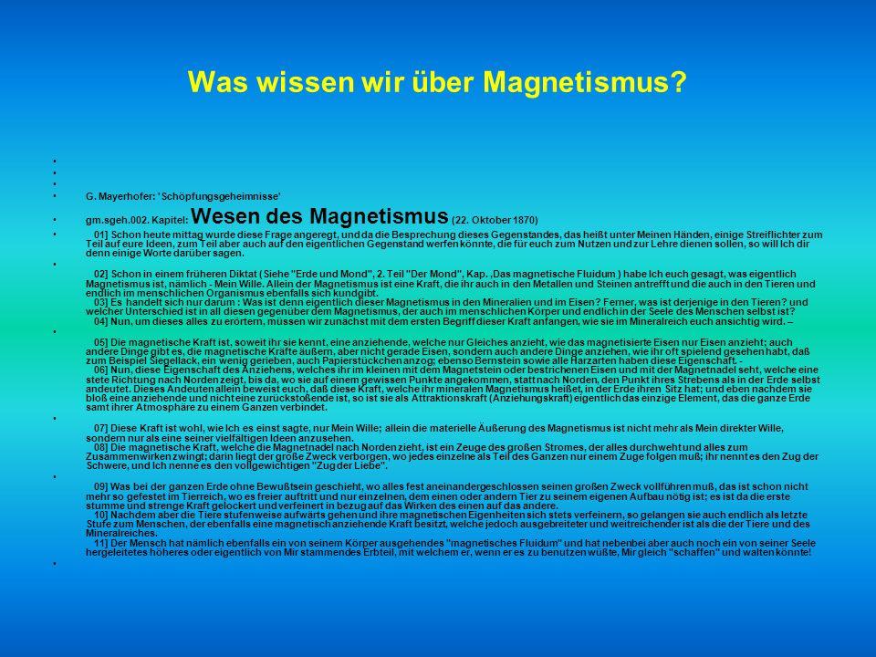 Was wissen wir über Magnetismus