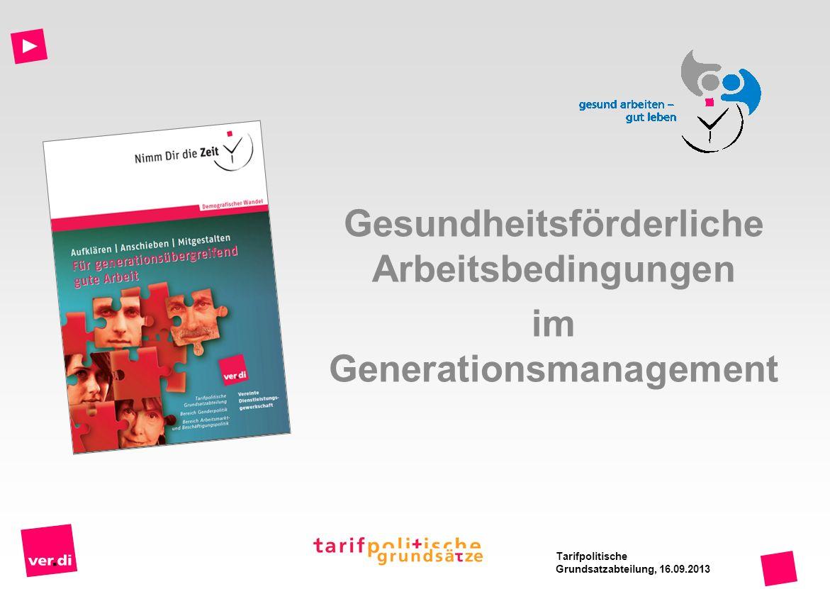 Gesundheitsförderliche Arbeitsbedingungen im Generationsmanagement