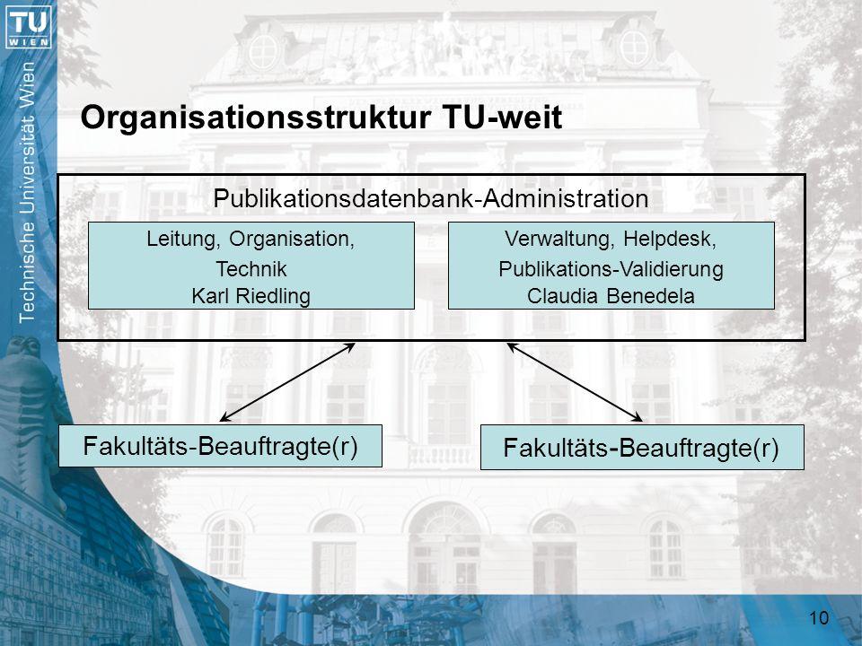 Organisationsstruktur TU-weit