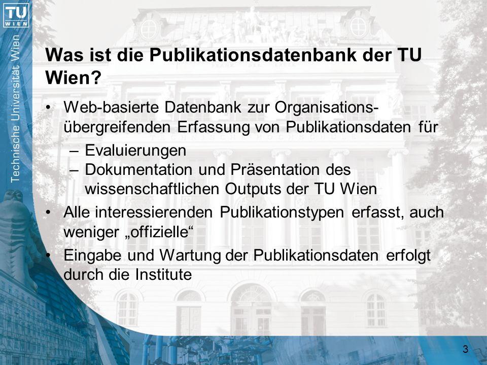 Was ist die Publikationsdatenbank der TU Wien