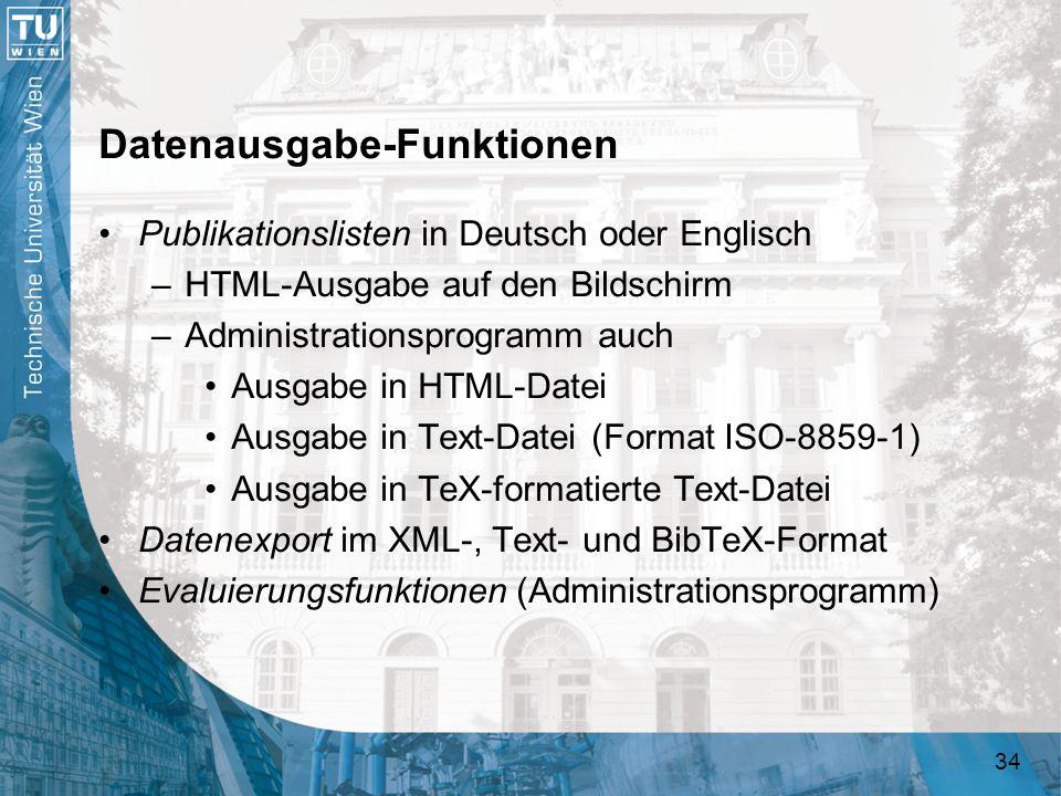 Datenausgabe-Funktionen