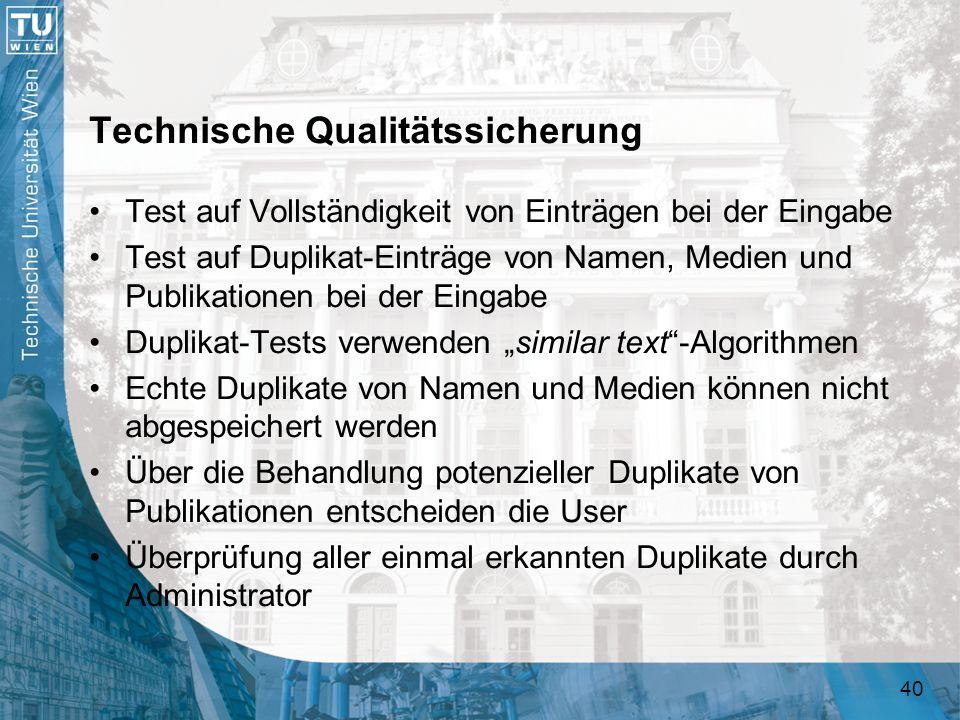 Technische Qualitätssicherung
