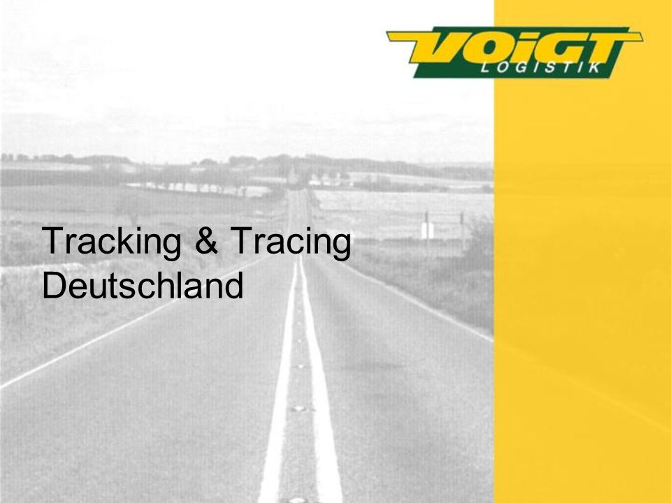 Tracking & Tracing Deutschland