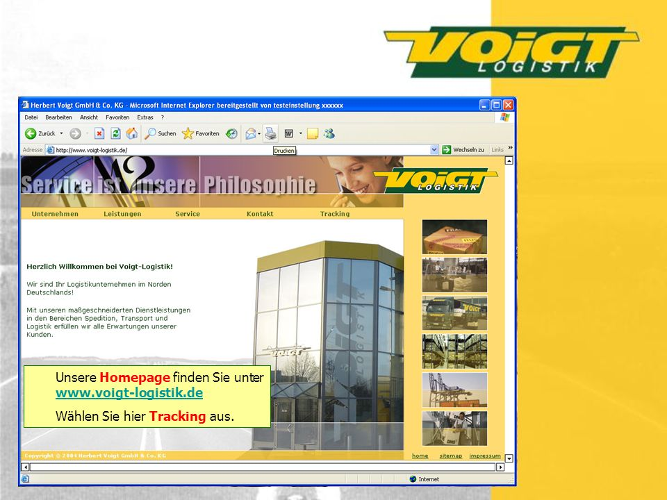 Unsere Homepage finden Sie unter www.voigt-logistik.de