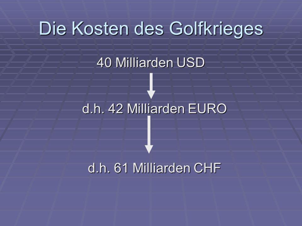 Die Kosten des Golfkrieges