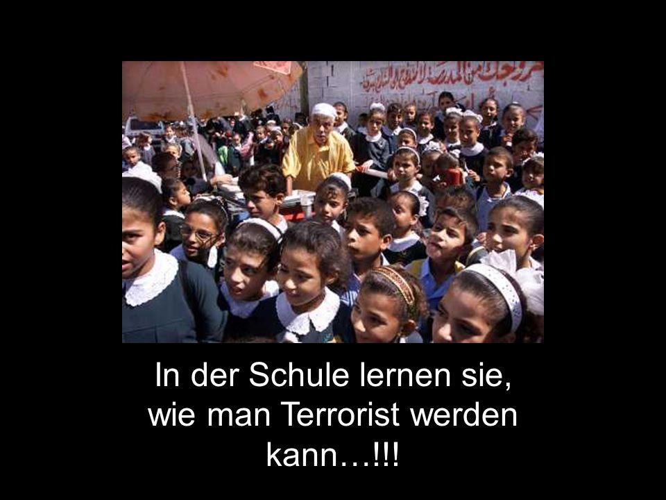 In der Schule lernen sie, wie man Terrorist werden kann…!!!