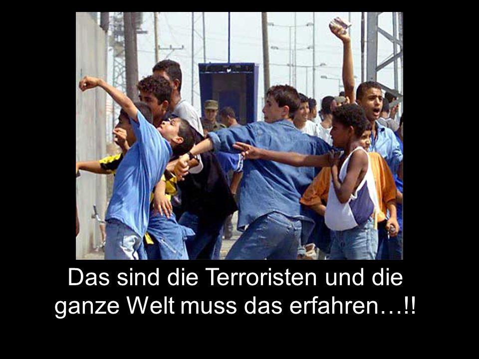 Das sind die Terroristen und die ganze Welt muss das erfahren…!!