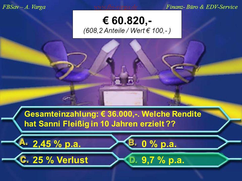 FBSav – A. Varga www.fbs-varga.de Finanz- Büro & EDV-Service