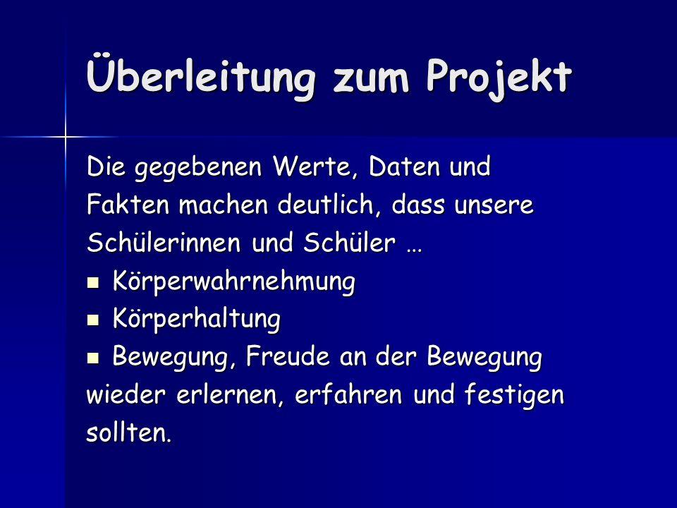 Überleitung zum Projekt