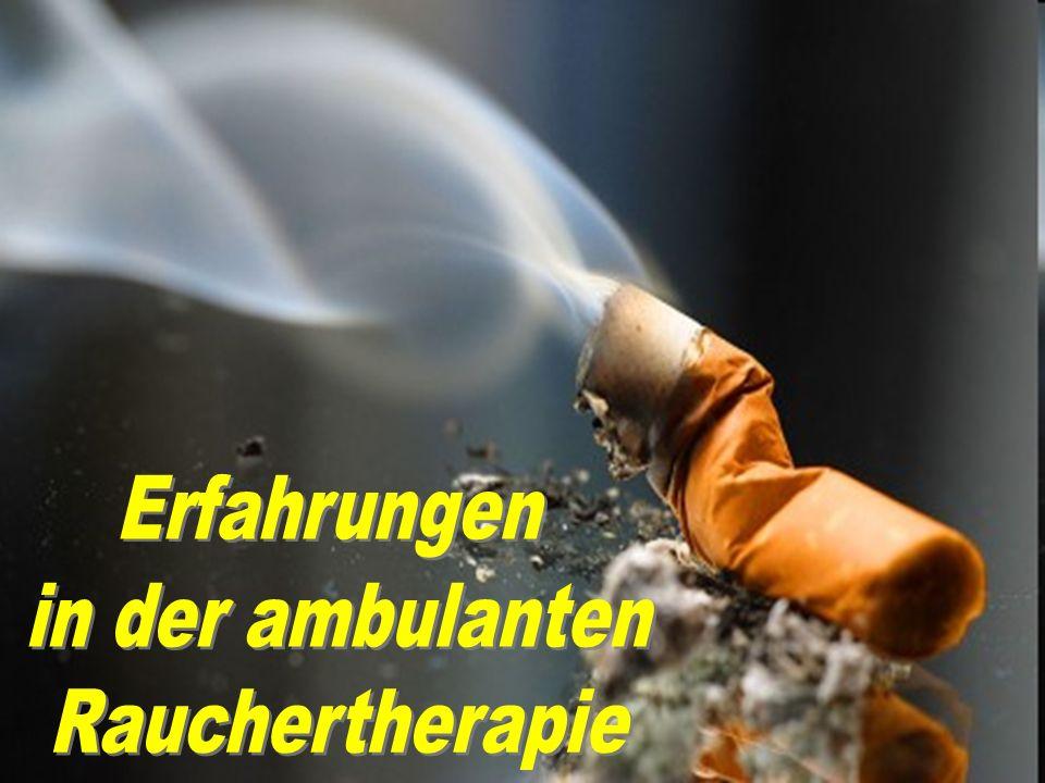 Erfahrungen in der ambulanten Rauchertherapie