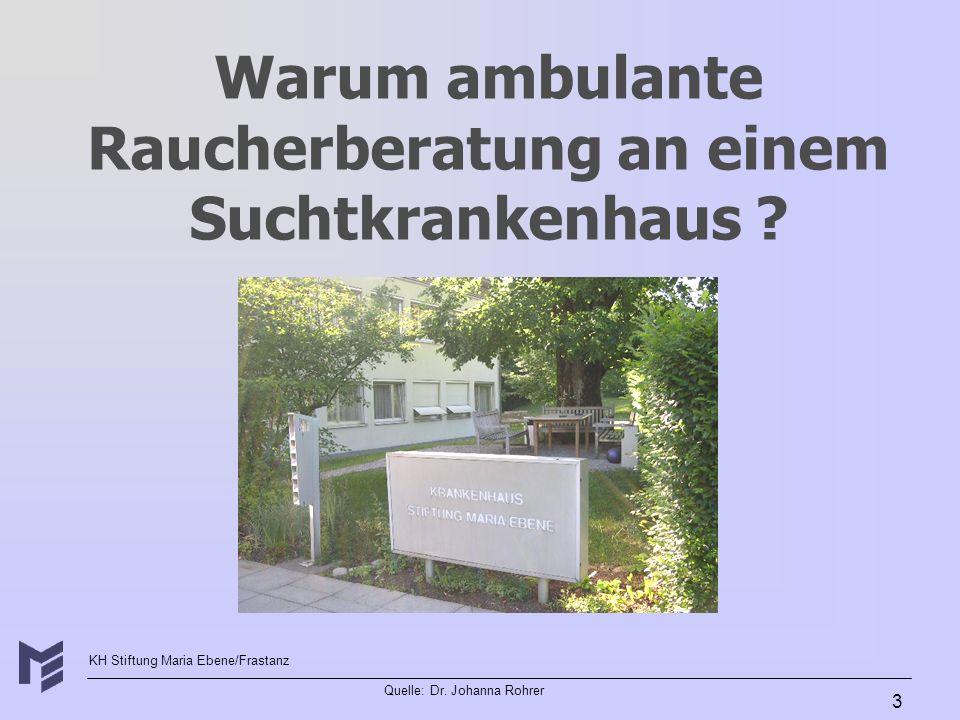 Warum ambulante Raucherberatung an einem Suchtkrankenhaus