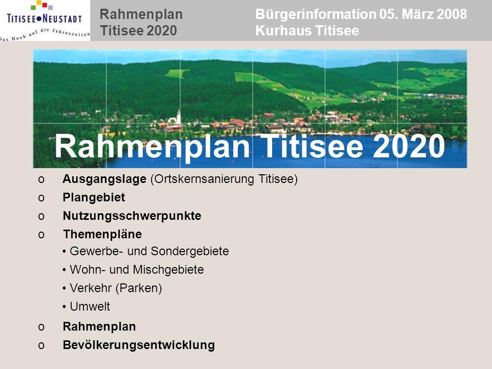 Bürgerinformation 05. März 2008 Kurhaus Titisee