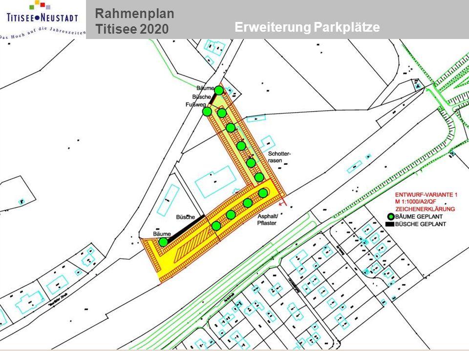 Erweiterung Parkplätze