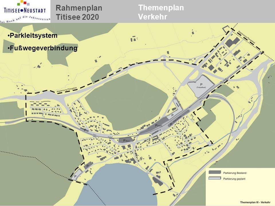 Themenplan Verkehr Parkleitsystem Fußwegeverbindung