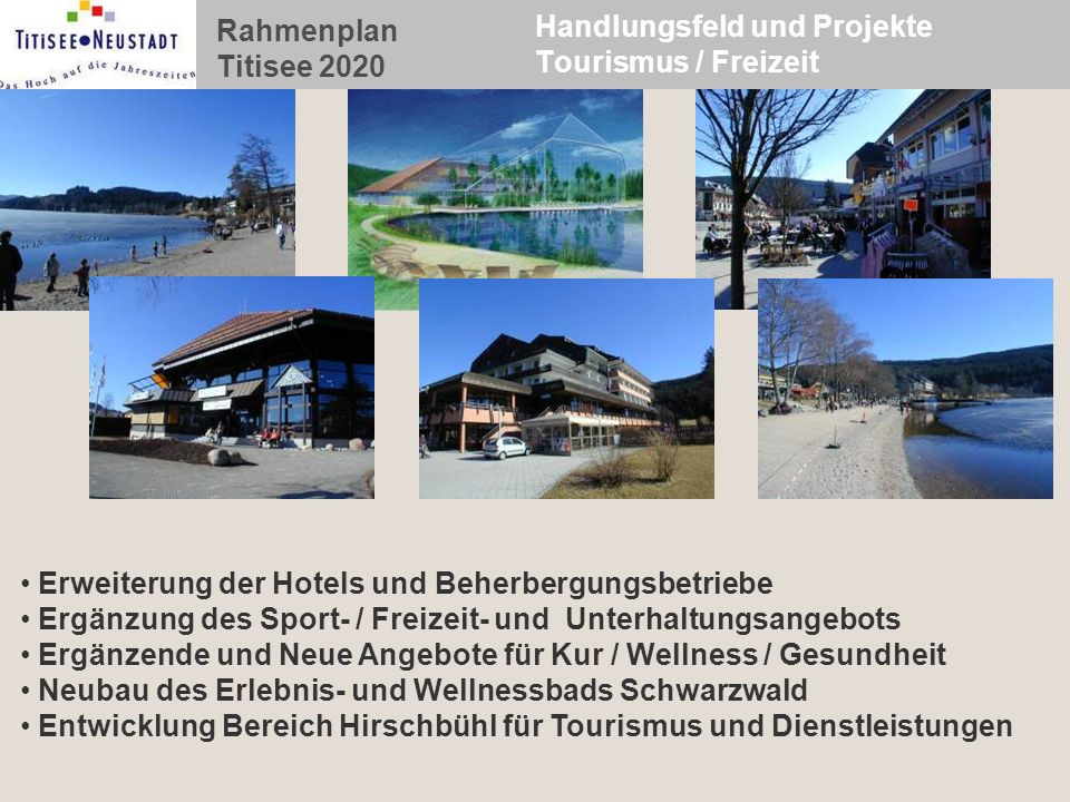 Handlungsfeld und Projekte Tourismus / Freizeit