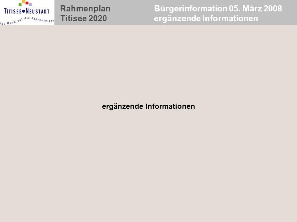 Bürgerinformation 05. März 2008 ergänzende Informationen
