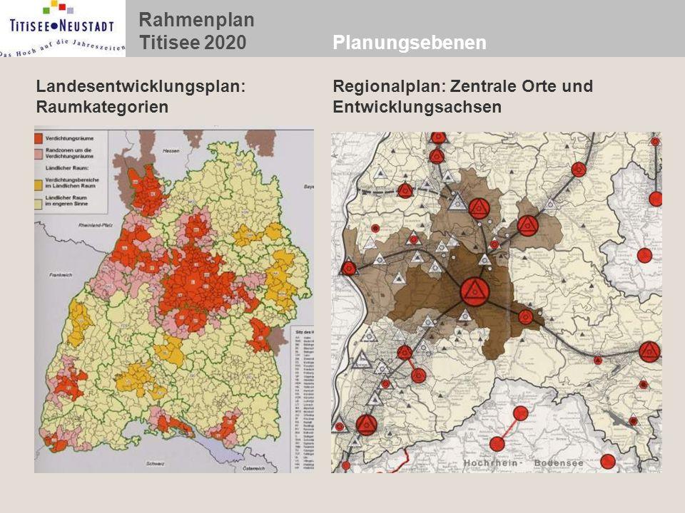 Planungsebenen Landesentwicklungsplan: Raumkategorien