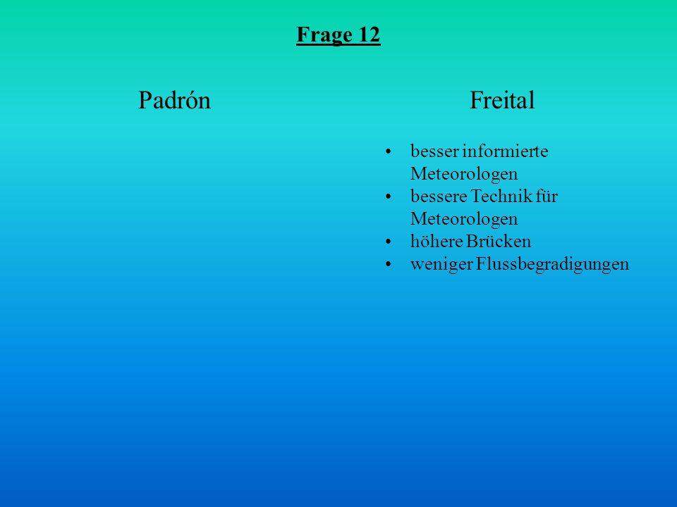 Padrón Freital Frage 12 besser informierte Meteorologen