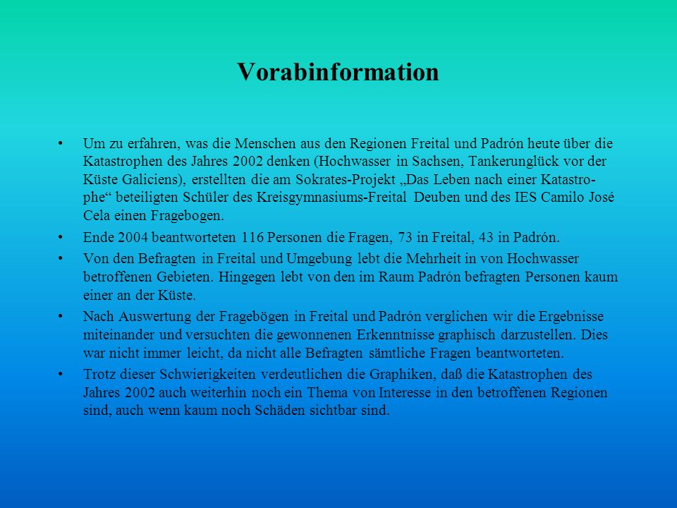 Vorabinformation