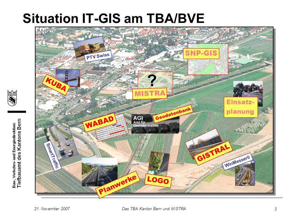 Situation IT-GIS am TBA/BVE