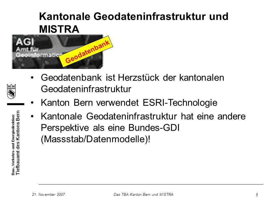 Kantonale Geodateninfrastruktur und MISTRA