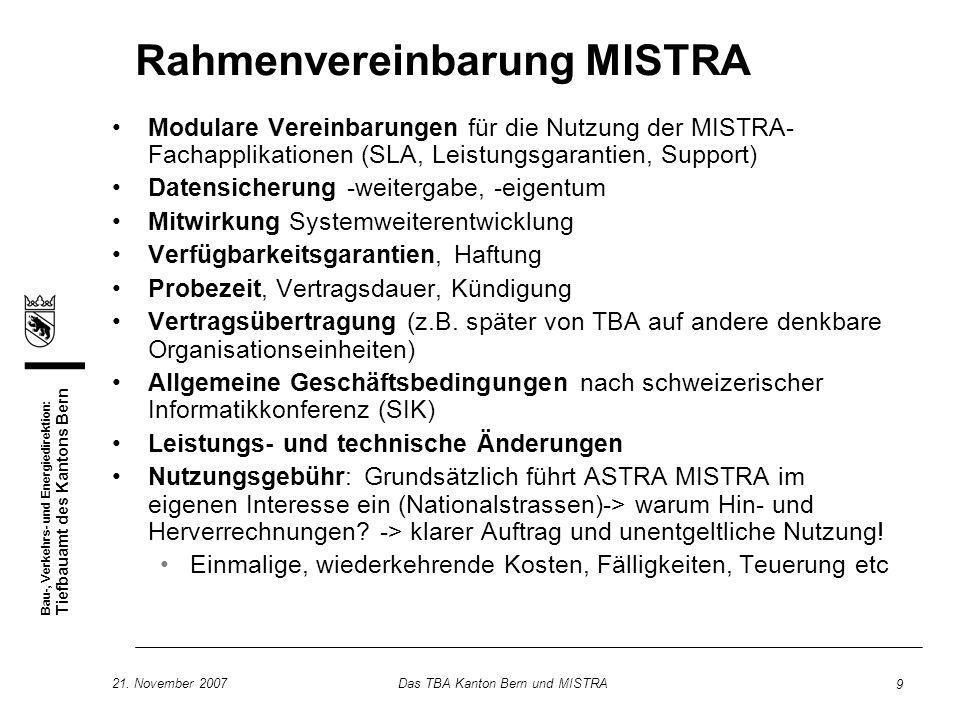Rahmenvereinbarung MISTRA