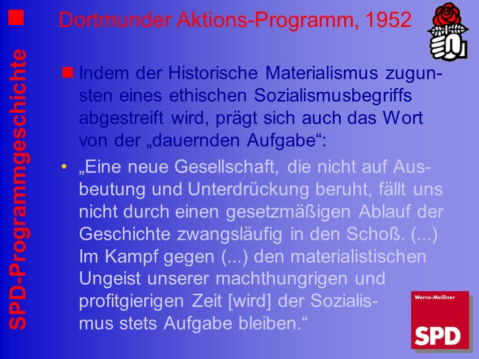 Dortmunder Aktions-Programm, 1952