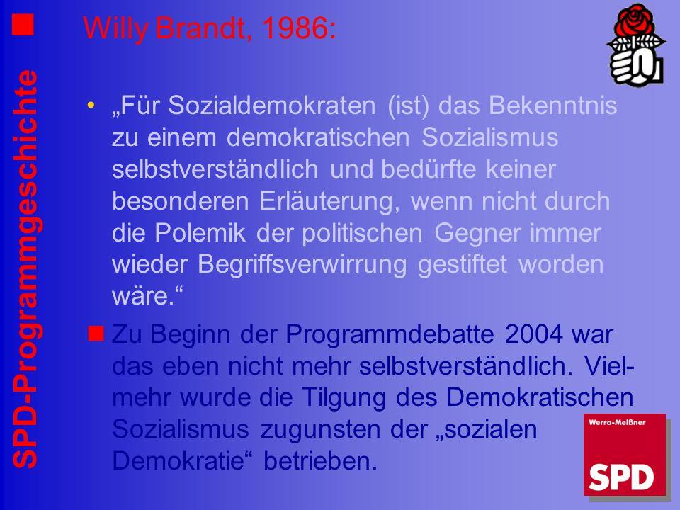 Willy Brandt, 1986: