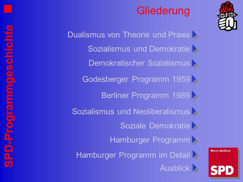 Gliederung Dualismus von Theorie und Praxis Sozialismus und Demokratie