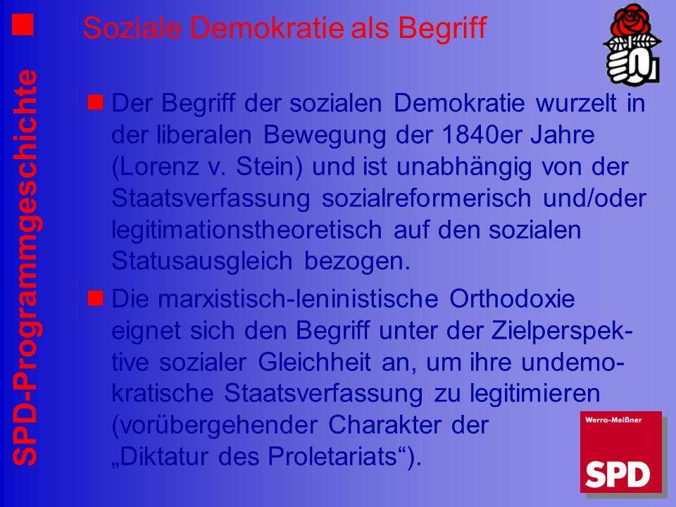 Soziale Demokratie als Begriff
