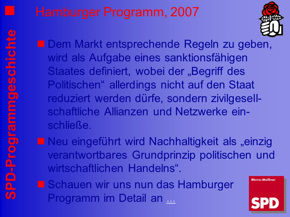 Hamburger Programm, 2007