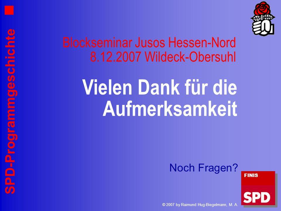 Blockseminar Jusos Hessen-Nord 8.12.2007 Wildeck-Obersuhl