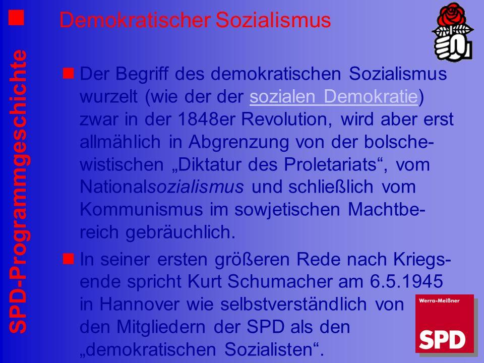 Demokratischer Sozialismus
