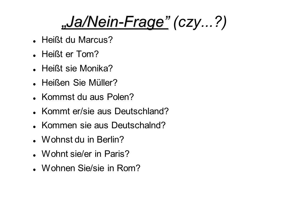 """""""Ja/Nein-Frage (czy... )"""