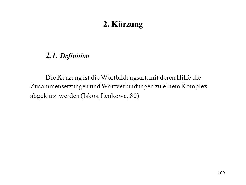 2. Kürzung 2.1. Definition.