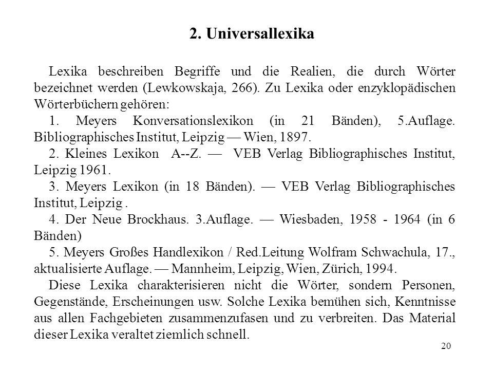 2. Universallexika
