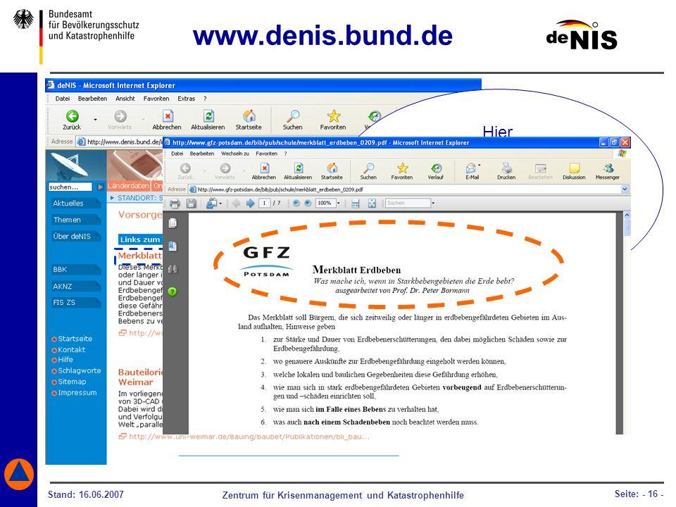 www.denis.bund.de Hier gelangen Sie